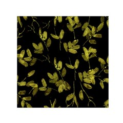 Dark Floral Print Small Satin Scarf (Square)