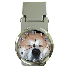 Akita Sleeping Money Clip Watches