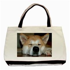 Akita Sleeping Basic Tote Bag