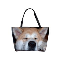 Akita Sleeping Shoulder Handbags