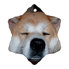 Akita Sleeping Snowflake Ornament (2-Side)