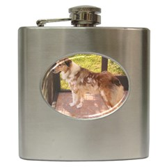 Australian Shepherd Red Merle Full Hip Flask (6 oz)