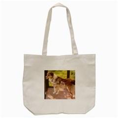 Australian Shepherd Red Merle Full Tote Bag (Cream)