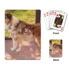 Australian Shepherd Red Merle Full Playing Card