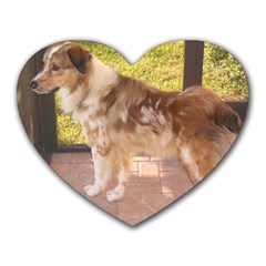 Australian Shepherd Red Merle Full Heart Mousepads