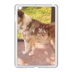 Australian Shepherd Red Merle Full Apple iPad Mini Case (White)