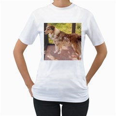 Australian Shepherd Red Merle Full Women s T-Shirt (White)