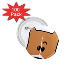 Peeping Basenji 1.75  Buttons (100 pack)