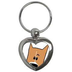 Peeping Basenji Key Chains (Heart)