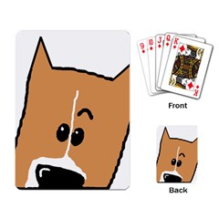 Peeping Basenji Playing Card