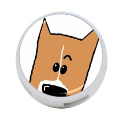 Peeping Basenji 4-Port USB Hub (One Side)