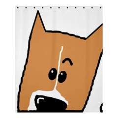 Peeping Basenji Shower Curtain 60  x 72  (Medium)