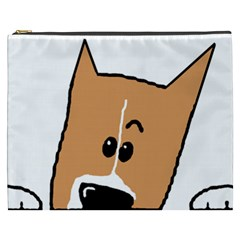 Peeping Basenji Cosmetic Bag (XXXL)