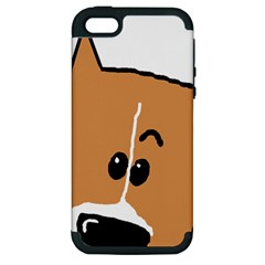 Peeping Basenji Apple iPhone 5 Hardshell Case (PC+Silicone)