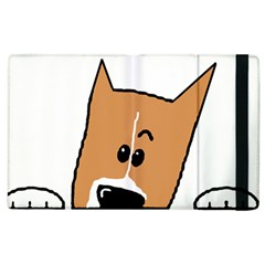 Peeping Basenji Apple iPad 2 Flip Case