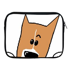 Peeping Basenji Apple iPad 2/3/4 Zipper Cases