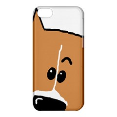 Peeping Basenji Apple iPhone 5C Hardshell Case