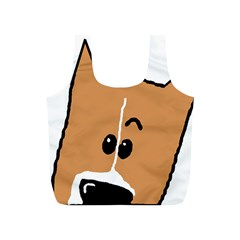 Peeping Basenji Full Print Recycle Bags (S)
