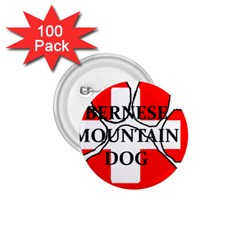 Ber Mt Dog Name Paw Switzerland Flag 1.75  Buttons (100 pack)
