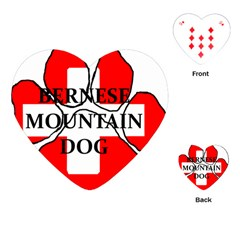Ber Mt Dog Name Paw Switzerland Flag Playing Cards (Heart)