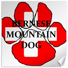 Ber Mt Dog Name Paw Switzerland Flag Canvas 20  x 20