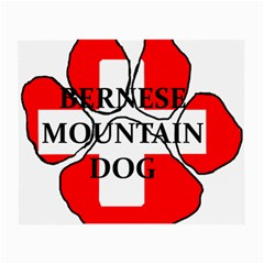 Ber Mt Dog Name Paw Switzerland Flag Small Glasses Cloth (2-Side)