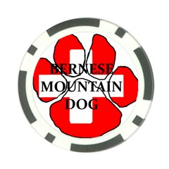 Ber Mt Dog Name Paw Switzerland Flag Poker Chip Card Guards