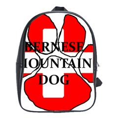 Ber Mt Dog Name Paw Switzerland Flag School Bags(Large)