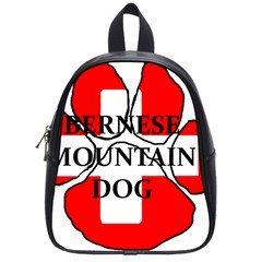 Ber Mt Dog Name Paw Switzerland Flag School Bags (Small)