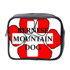 Ber Mt Dog Name Paw Switzerland Flag Mini Toiletries Bag 2-Side