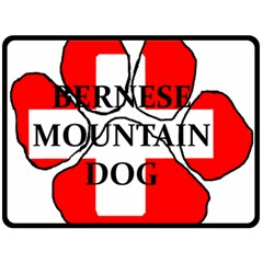 Ber Mt Dog Name Paw Switzerland Flag Fleece Blanket (Large)