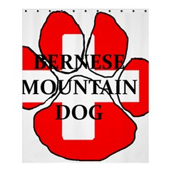 Ber Mt Dog Name Paw Switzerland Flag Shower Curtain 60  x 72  (Medium)
