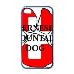 Ber Mt Dog Name Paw Switzerland Flag Apple iPhone 4 Case (Black)