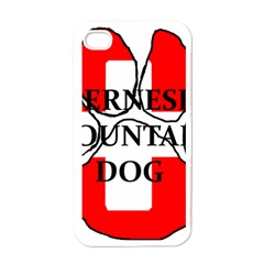 Ber Mt Dog Name Paw Switzerland Flag Apple iPhone 4 Case (White)