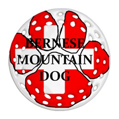 Ber Mt Dog Name Paw Switzerland Flag Ornament (Round Filigree)