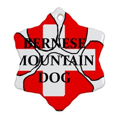 Ber Mt Dog Name Paw Switzerland Flag Snowflake Ornament (2-Side)