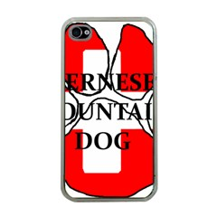 Ber Mt Dog Name Paw Switzerland Flag Apple iPhone 4 Case (Clear)