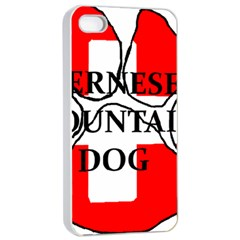 Ber Mt Dog Name Paw Switzerland Flag Apple iPhone 4/4s Seamless Case (White)