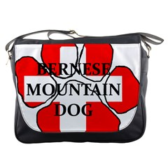 Ber Mt Dog Name Paw Switzerland Flag Messenger Bags