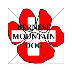 Ber Mt Dog Name Paw Switzerland Flag Acrylic Tangram Puzzle (6  x 6 )