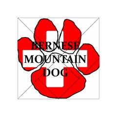 Ber Mt Dog Name Paw Switzerland Flag Acrylic Tangram Puzzle (4  x 4 )
