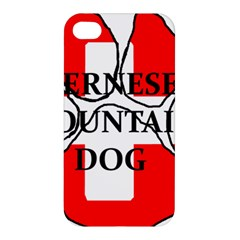 Ber Mt Dog Name Paw Switzerland Flag Apple iPhone 4/4S Premium Hardshell Case
