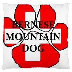 Ber Mt Dog Name Paw Switzerland Flag Large Cushion Case (One Side)