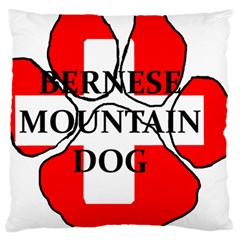 Ber Mt Dog Name Paw Switzerland Flag Large Cushion Case (Two Sides)