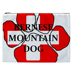 Ber Mt Dog Name Paw Switzerland Flag Cosmetic Bag (XXL)
