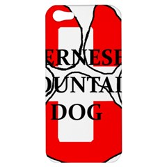 Ber Mt Dog Name Paw Switzerland Flag Apple iPhone 5 Hardshell Case