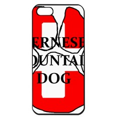 Ber Mt Dog Name Paw Switzerland Flag Apple iPhone 5 Seamless Case (Black)