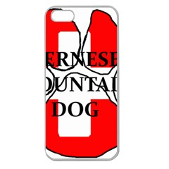 Ber Mt Dog Name Paw Switzerland Flag Apple Seamless iPhone 5 Case (Clear)