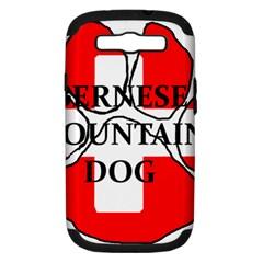 Ber Mt Dog Name Paw Switzerland Flag Samsung Galaxy S III Hardshell Case (PC+Silicone)