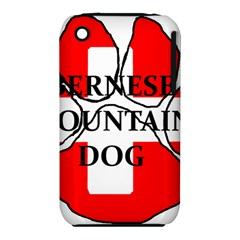 Ber Mt Dog Name Paw Switzerland Flag iPhone 3S/3GS